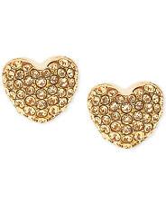 MICHAEL KORS Gold-Tone and Crystal Heart Stud Earrings