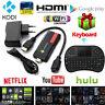 HD 1080P Bluetooth Mini PC TV Box Stick Media Player Android Quad Core WiFi HDMI