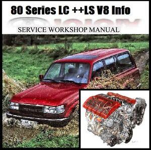 Details about TOYOTA LAND CRUISER 80 Series + plus LS1 LS2 V8 INFO Workshop  Repair Manual CD