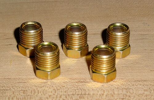 "Male Tube Nut Inverted Flare Fitting 5PC Kit  1//4/"" Tube x 7//16/""-24 Thread"