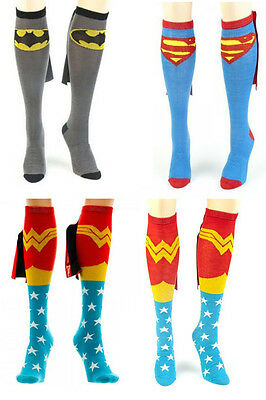 Authentic Dc Comics Superhero Knee High Cape Sock Costume Maraton
