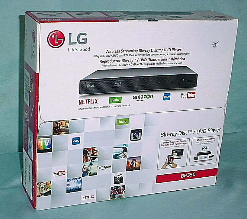 SEALED  LG BP350 Blu-Ray Player Wi-Fi Streaming DVD CD Music Disc  FREE PRIORITY bp350 dvd music player priority streaming