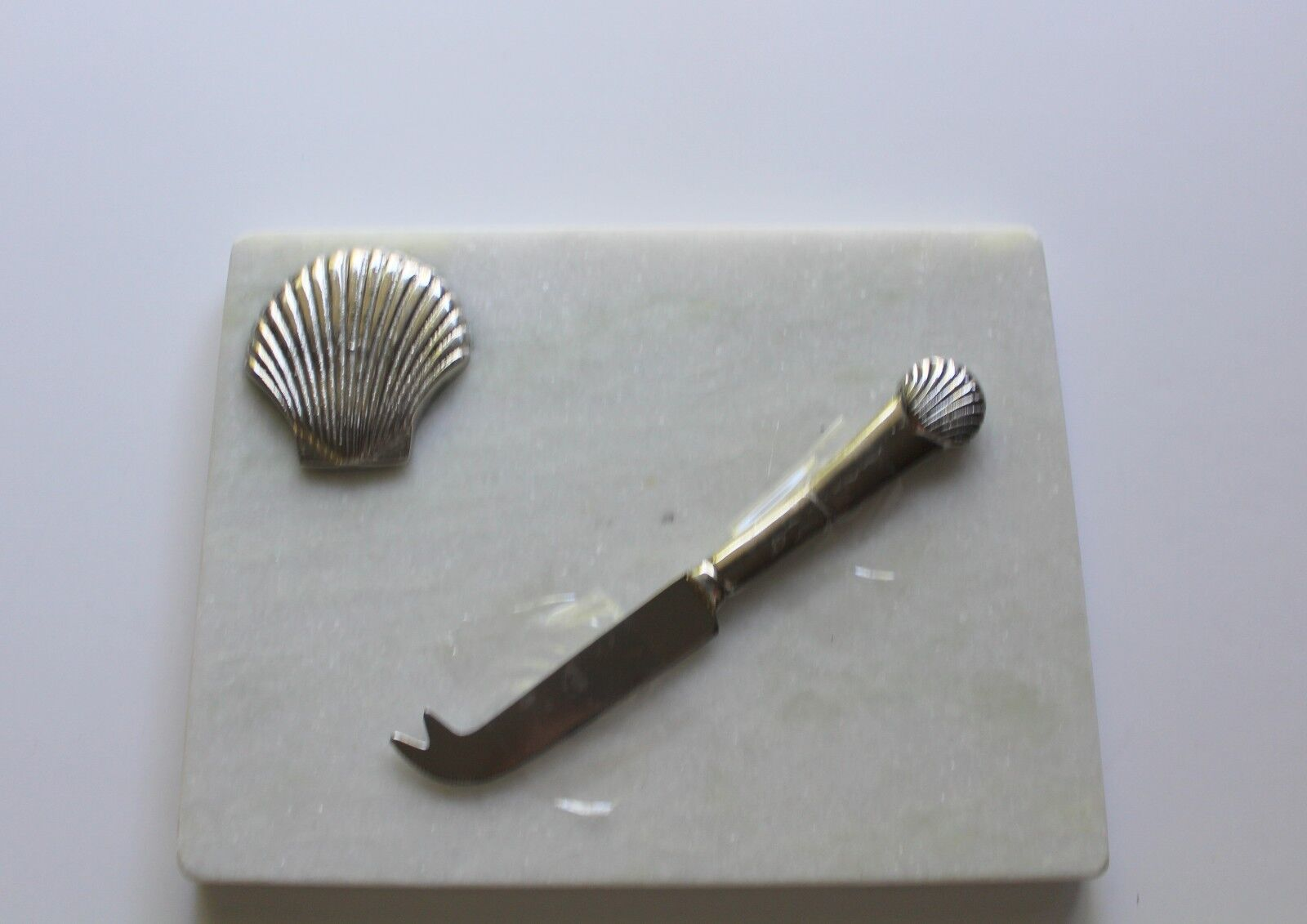 Jodhpuri 2 Piece Marble Shell Cheese Board And Knife Set For Sale Online Ebay