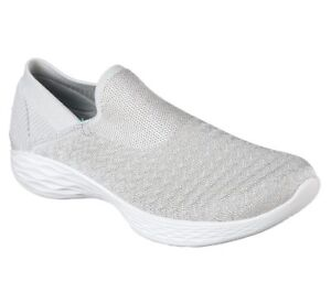 You Shoes Flats Womens Transcend Lifestyle Skechers Trainers Memory 14959 Silver Foam dHqx6