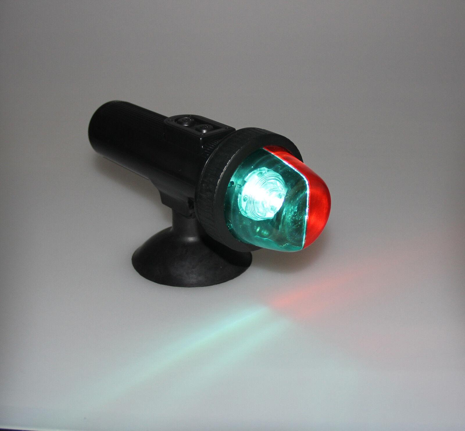 BOAT BI-COLOR PORT STARBOARD NAVIGATION LIGHT SUCTION