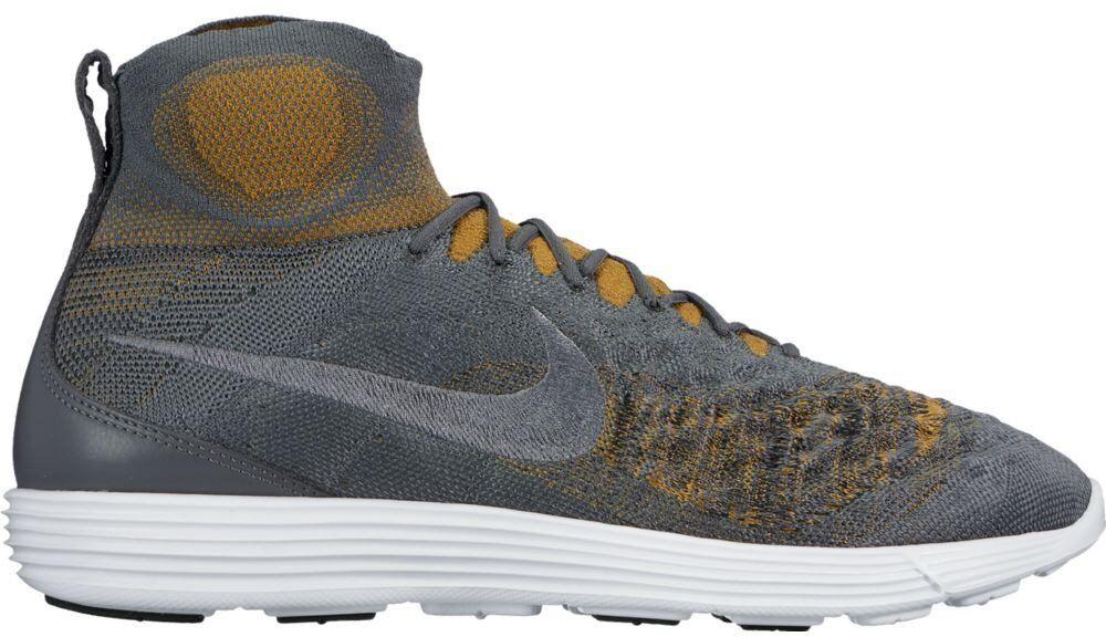 Nike Lunar Magista II Flyknit 852614-004 NEUF Gris Chaussettes Chaussures Courir NEUF 852614-004 44-42 bd1e3d