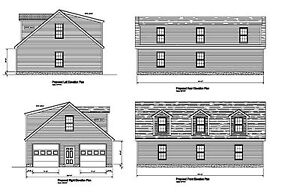Details about 30'X44' GARAGE PLANS OPPOSING GABLE SHED DORMER DOG HOUSE  #17-3044GBLDORM-1