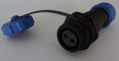 conectores clavija con tapa impermeable hembra 230v 12v ip68 enchufe cilíndrico