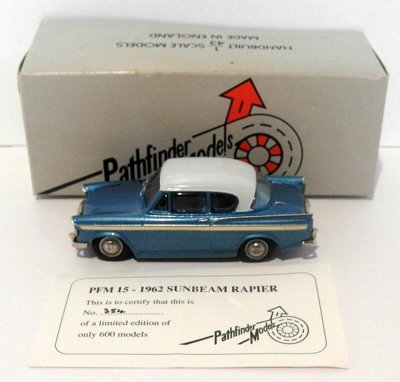 Pathfinder Models 1 43 Scale PFM15 - 1962 Sunbeam Rapier 1 Of 600 bluee White