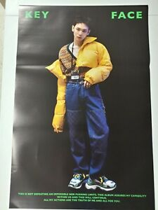 Details about Key (Shinee) - Face 1st Album B Type Official Unfolded Poster  New