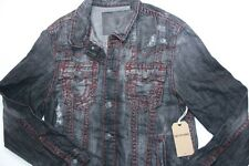 True Religion Men Denim Black  Jimmy Super T Jacket XLarge XL SLim Fit