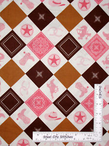Yard Ice Cream Cone Double Scoop Heart Brown Cotton Fabric Riley Blake C6064