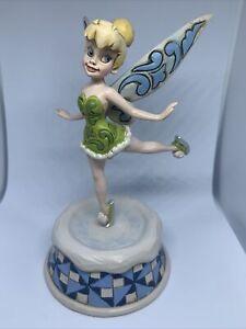 Disney Traditions Tinkerbell Skating Pixie Christmas Rare Jim Shore Figurine