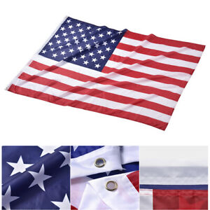 4x6 Ft US Flag Polyester Fabric Fade Resistance Bright Decoration Outdoor Club