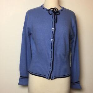 Desert Divan Sherry Holt Blue Wool Blend Sweater Cardigan Sz S/M/L/XL - NWT