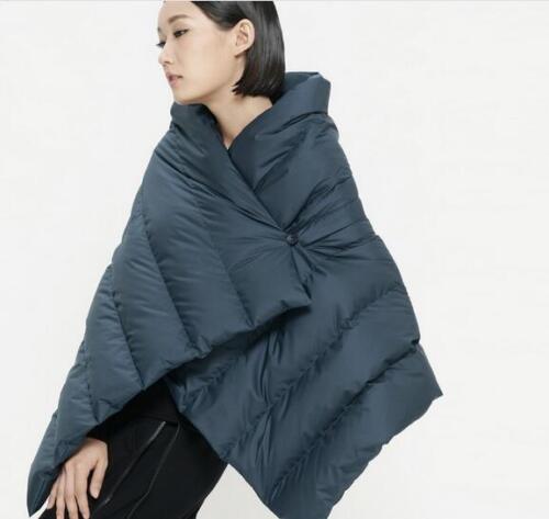 Jacket Big scialle Down maglia Cappotto Zsell rosso blu Duck Vita Collar lunghezza Womens Verde nero cappuccio con gIRwqq
