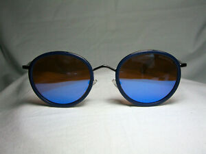 Matt-Black-sunglasses-round-panto-oval-women-039-s-men-039-s-unisex-hyper-vintage-NOS