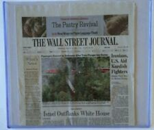 (50) NEWSPAPER TABLOID 11.75x13.25x7MM RIGID STORAGE DISPLAY TOPLOADER HOLDERS