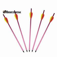 "5X 15"" Aluminium Metal Crossbow Bolts Hunting Bow Archery Arrow for 150 180 lbs"