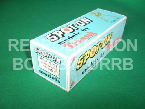 Spot-On #103 ROLLS ROYCE SILVER WRAITH-riproduzione Box da drrb