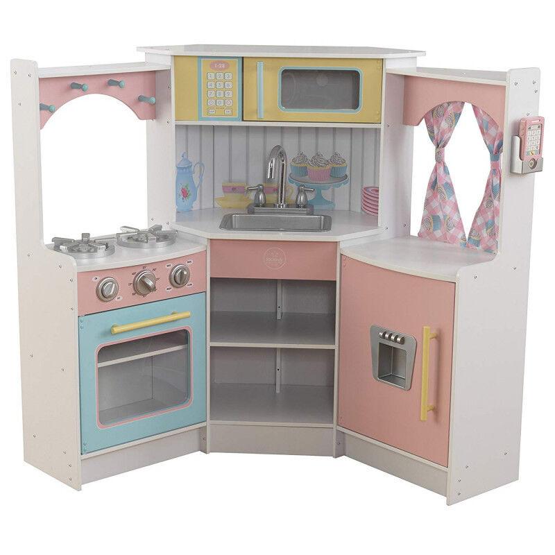 KidKraft 53368 Deluxe Corner Spielküche weiß bunt für Kinder