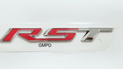 2019 Chevrolet New Generation Silverado RST Chrome and Red Emblem OEM GM