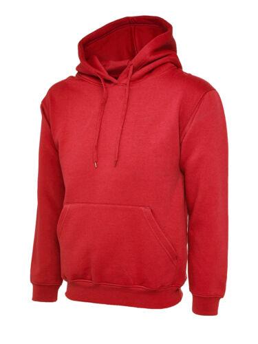 Uneek Mens Womens Regular Fit Pullover Hoodie Casual Jumper Workwear Hoody TOP