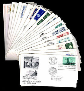 1959-U-S-FIRST-DAY-COVERS-LOT-OF-21-VF-CV-32-50-ESP-4217