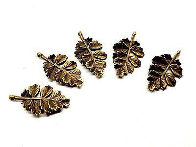 Oak Leaf Charms Double Hole connector Charms x 5 Bronzed