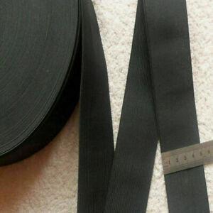 Schwarzer-Bund-Bund-Gummiband-Dicke-50mm-1M-Elastic-Band-Craft-T1-W3Z5-V5-D2D2