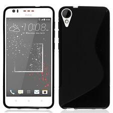Cover Custodia TPU Silicone S-Line nero per HTC Desire 825/ 825 Dual SIM