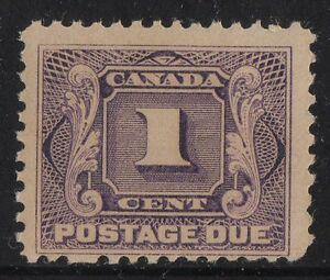J1a Postage Due Canada mint never hinged