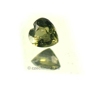 0.27cts heart normal cut 4.5mm moldavite faceted cutted gem #BRUS617
