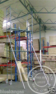 5m-High-Mobile-Scaffold-Scaffolding-Tower-For-Stairwell-With-1m-Safety-Rail