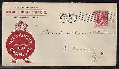 1899 Milwaukee Carnival Clown Advertising Cover
