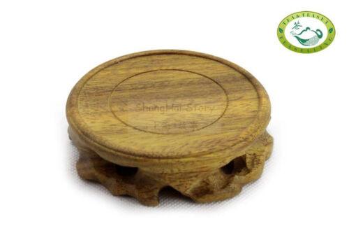 Madera Natural Root stand//base Tallado Para Exhibición Tetera Ronda
