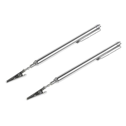 2Pcs 26in Telescopic Alligator Clip Stainless Handy Pocket Mechanic Tools