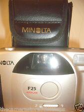 MINOLTA F25 35MM FILM CAMERA~BUILT IN FLASH~AUTO FOCUS~RED EYE REDUCTION (18A17)