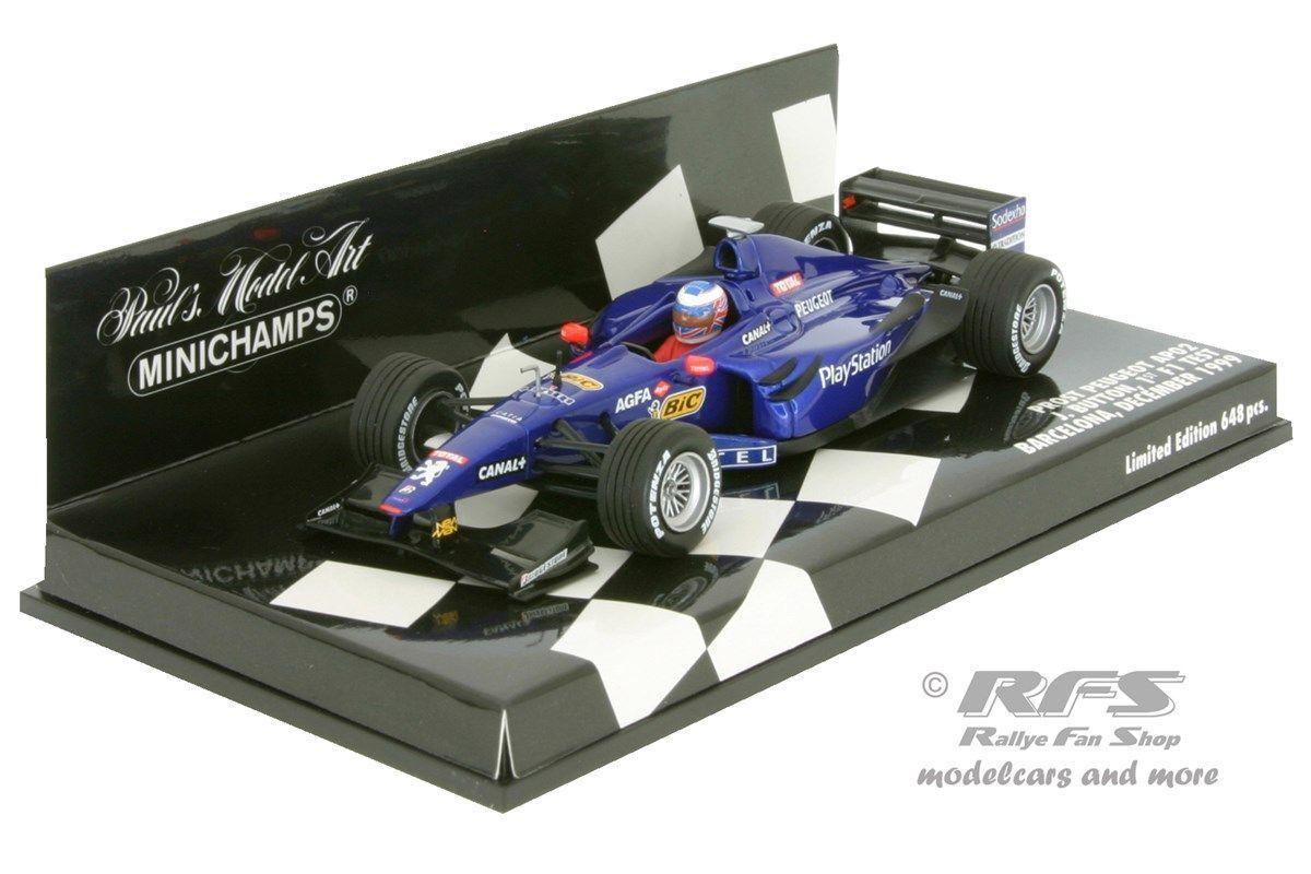 Prost Peugeot ap02-Button-Formule 1 Test Barcelone 1999 - 1 43 - MINICHAMPS