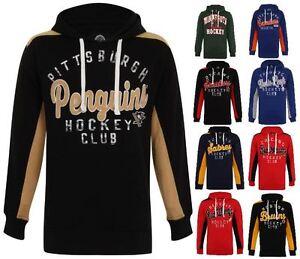lowest price 70006 be295 Details about NFL NHL Kangroo Team Pull Over Hoodie Football Hockey Hooded  Sweatshirt Jacket