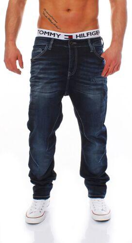 Carrot Fit-Blu Da Uomo jogg Jeans Pantaloni Cipo /& Baxx-c-44005