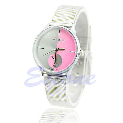 New Elegant Classic Women Men Quartz Stainless Steel Wrist Watch