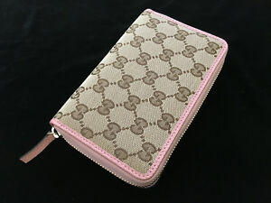 9a2a0217599196 Image is loading Gucci-Original-GG-Canvas-Wallet-420113-Beige-amp-