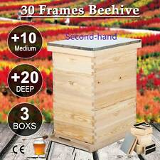 Secondhand 30 Frame Size Kit Bee Hive House Frame Beehive 20 Deep 10 Medium
