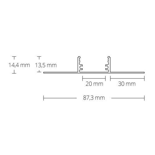 Cover Opal C1 LED Aluminium Drywall Profil T5 SABIK 2 Metre Incl
