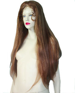 HUMAN-Hair-Remy-Full-Lace-Wig-Silk-Top-Thin-Skin-PU-Silky-Straight-Multi-Color