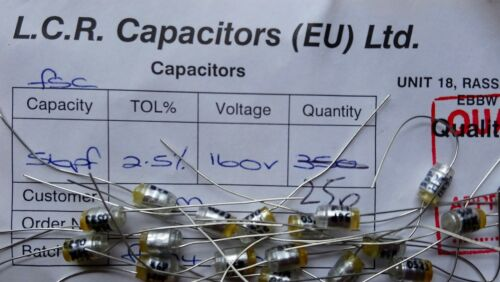 LCR FSC//P 56pF 2.5/% 160V Polystyrene Capacitors