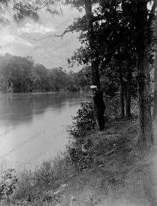 8x10-Print-Historic-Americana-Man-Standing-by-River-1903-2016156