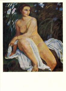 1966-Russian-postcard-NUDE-WOMAN-BATHER-by-Zinaida-Serebryakova
