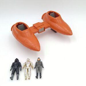 Vintage-1980-Star-Wars-Twin-Pod-Cloud-Car-Red-3-Action-Figures-C3PO